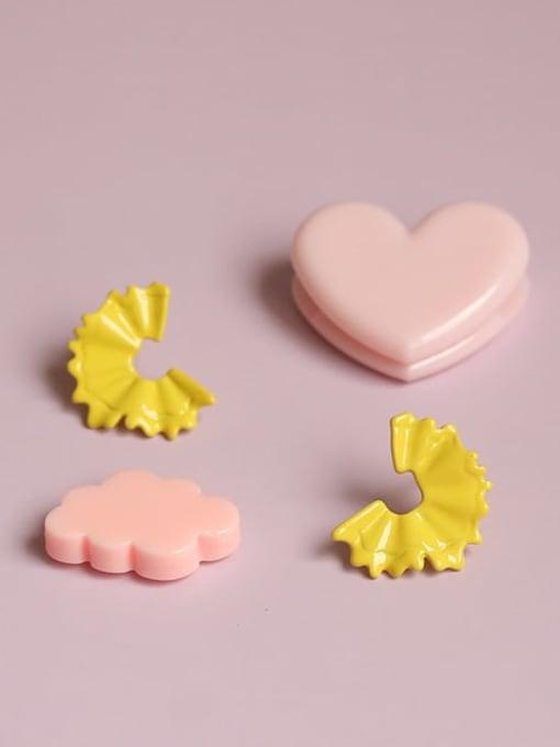 Five Color Alloy Enamel Irregular Minimalist Stud Earring