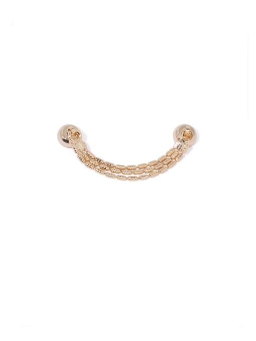 ACCA Brass Bead Tassel Vintage Single Earring 2