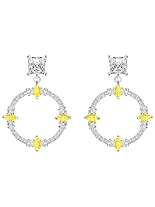 Luxury and exquisite Brass Cubic Zirconia Friut Luxury Drop Earring