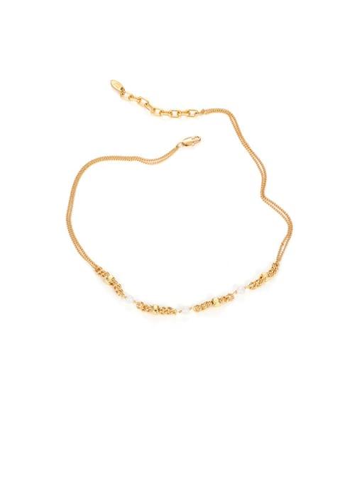 Mix and match Necklace Brass Imitation Pearl Geometric Minimalist Necklace