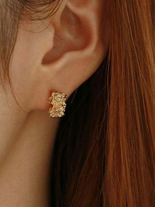 TINGS Brass Irregular Vintage Stud Earring 1