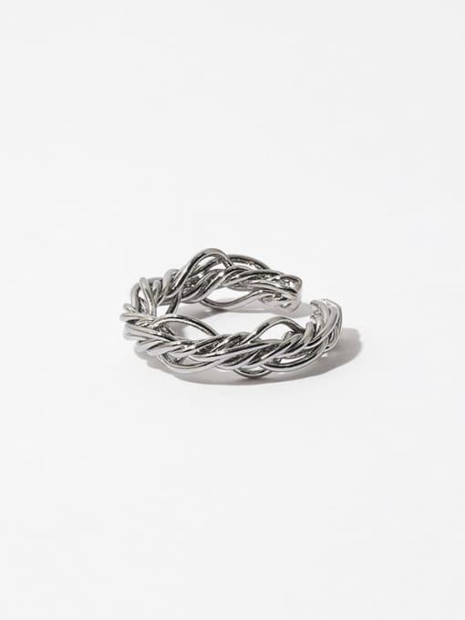 Line ring Brass Line Wrapping Hip Hop Band Ring