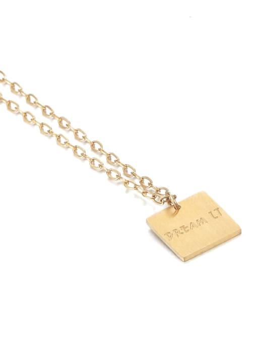 Five Color Brass Imitation Pearl Geometric Vintage Necklace 3