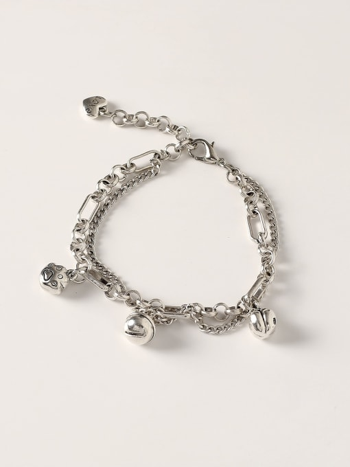 Retro Brass Hollow Bell Vintage Strand Bracelet