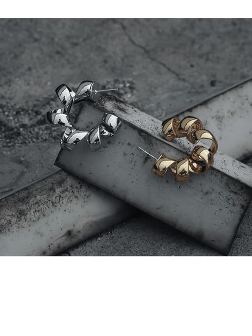 TINGS Brass Geometric Vintage Single Earring 3