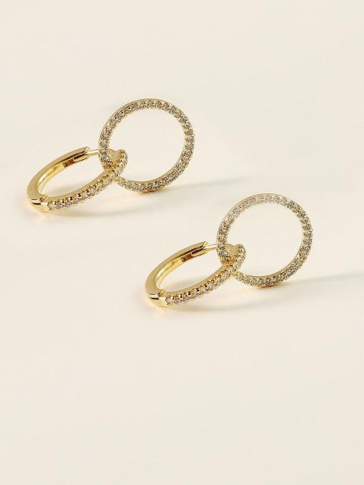 HYACINTH Brass Cubic Zirconia Geometric Minimalist Stud Earring 0