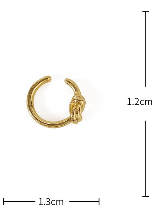 TINGS Brass Line knot Vintage Single Earring 2