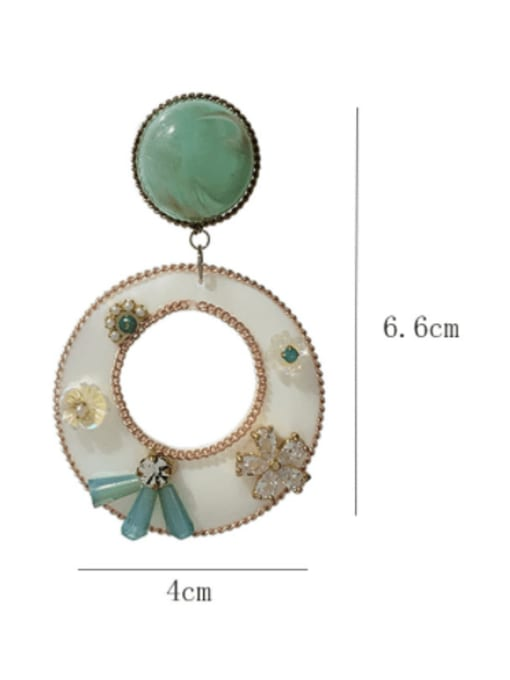 SUUTO Brass Shell Enamel Geometric Minimalist Drop Earring 2