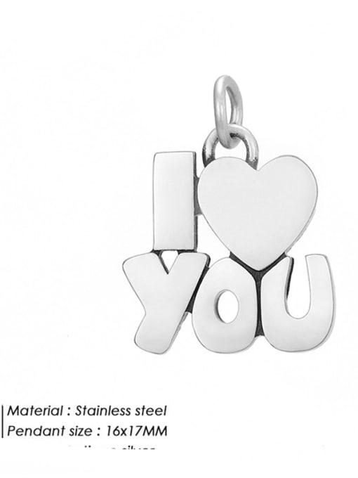 HZNP009 Stainless steel Minimalist Message Pendant