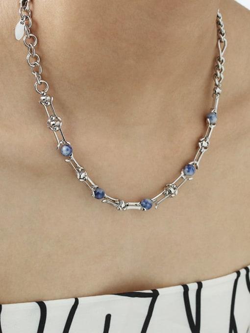 TINGS Brass Cloisonne Geometric Vintage Necklace 1