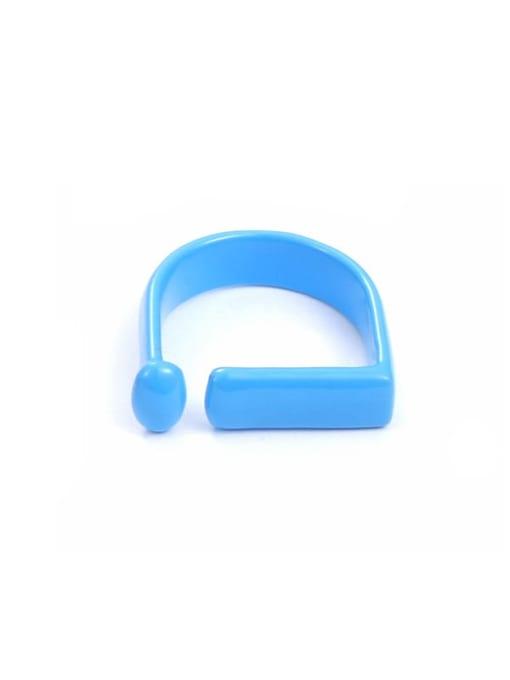 Blue drop oil (ring 7) Zinc Alloy Enamel Geometric Minimalist Band Ring