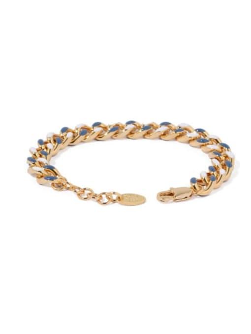 ACCA Brass Geometric Vintage Link Bracelet 3