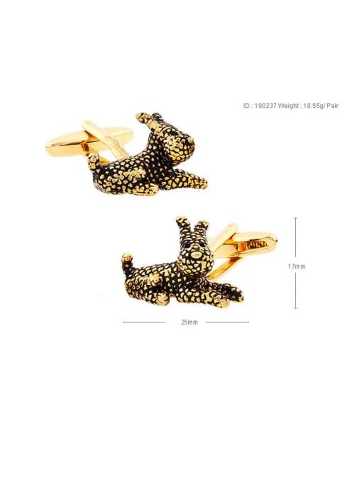 ThreeLink Brass Animal Vintage Cuff Link 2