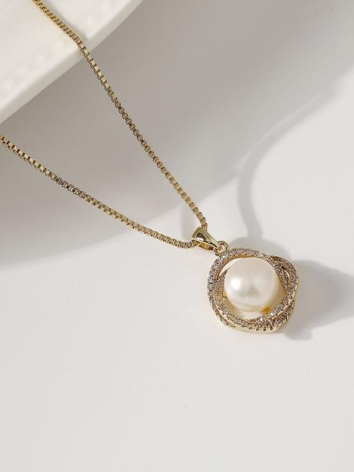 14k gold Brass Cubic Zirconia Flower Minimalist Necklace
