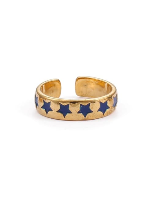 stars Brass Enamel Star Minimalist Band Ring