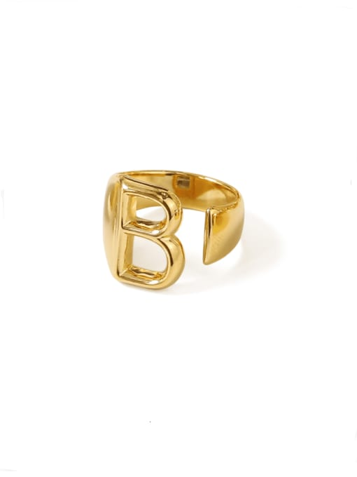 ACCA Brass  26 Letter Vintage Band Ring 2