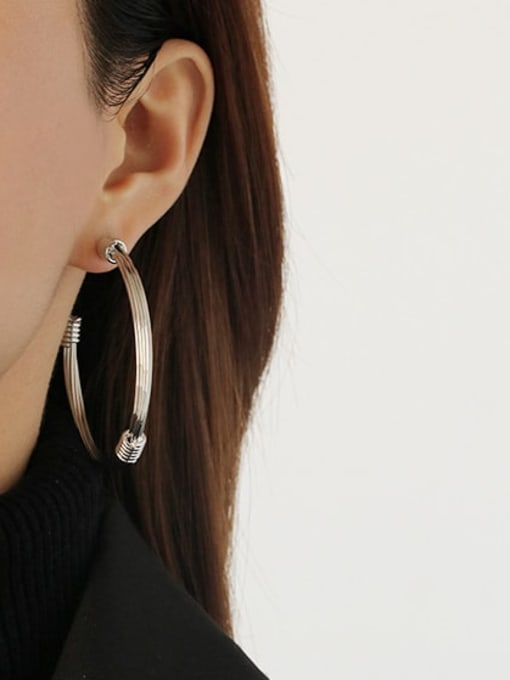 ACCA Brass Round Vintage Single Earring 2