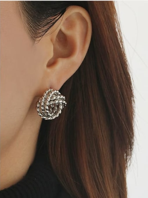 ACCA Brass Hollow Geometric Vintage Stud Earring 2