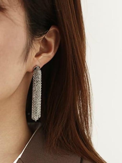 ACCA Brass Tassel Vintage Threader Earring(single) 1