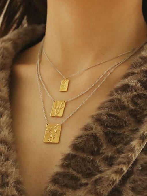 ACCA Brass Geometric Vintage Necklace 1
