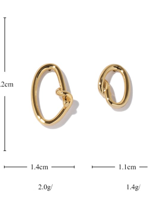 ACCA Brass Hollow Geometric Vintage Stud Earring 4