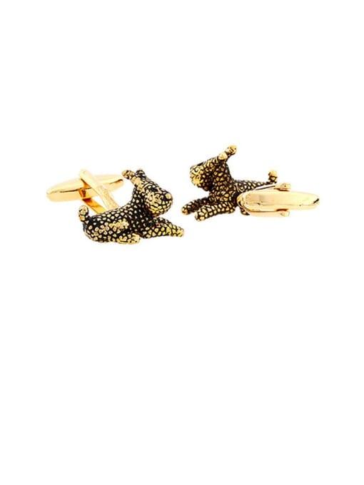 golden Brass Animal Vintage Cuff Link