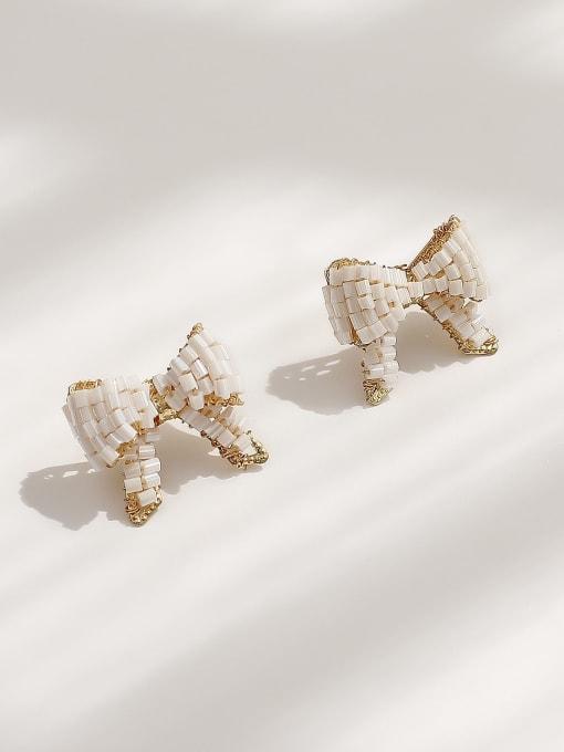 HYACINTH Brass Butterfly Vintage Stud Earring 0