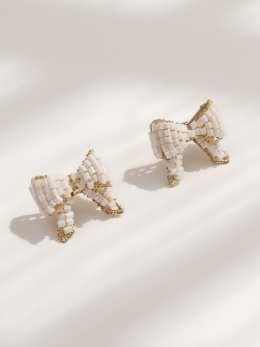 HYACINTH Brass Butterfly Vintage Stud Earring