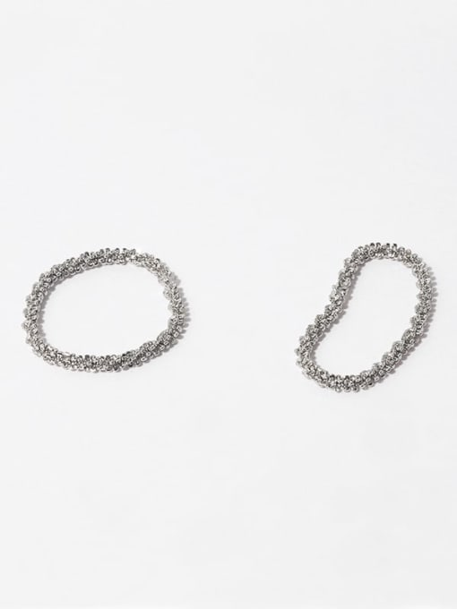 Sparkling ring Brass Chain Hip Hop Band Ring