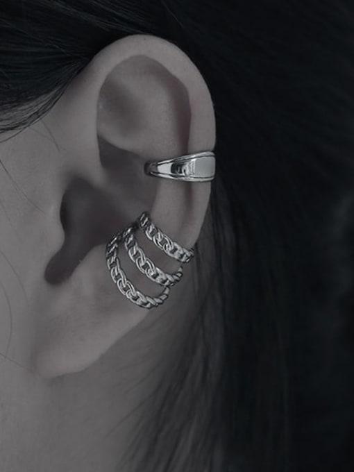 TINGS Brass Hollow Geometric Hip Hop Single Earring 1