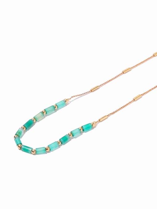 gold Brass Zircon Geometric Minimalist Necklace