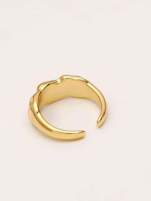 HYACINTH Brass Irregular Vintage Band Ring 3
