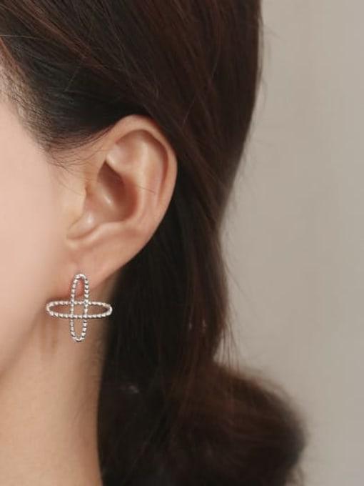 ACCA Brass  Vintage Asymmetric star Drop Earring 2