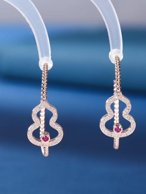 OUOU Brass Cubic Zirconia Heart Statement Huggie Earring 1