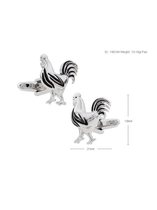 black Brass Animal cock Cute Cuff Link