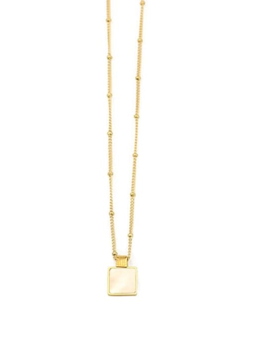 ACCA Brass Shell Geometric Vintage pendant Necklace 3