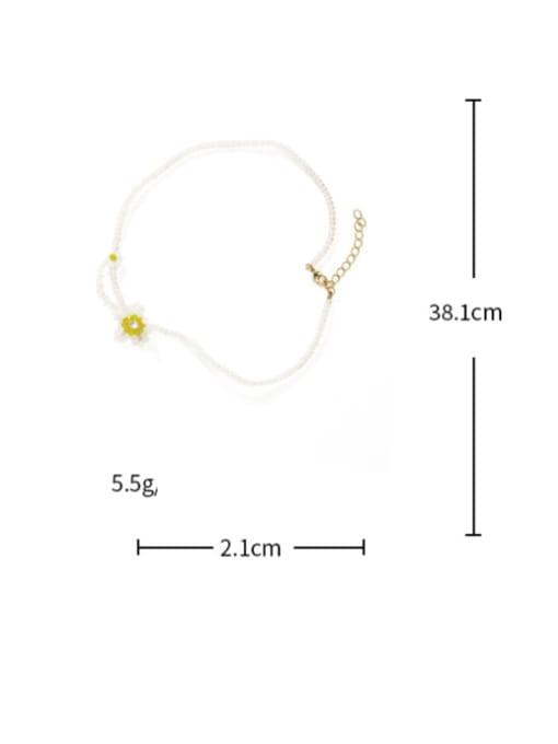 Five Color Alloy Bead Geometric Cute Necklace 2