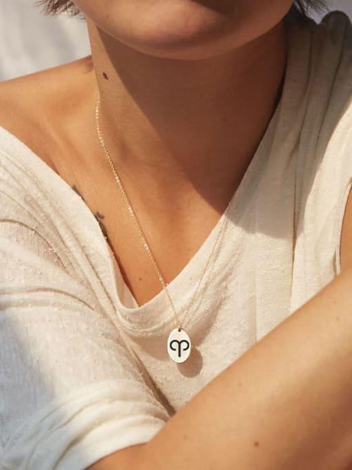 Desoto Stainless steel Constellation Minimalist Geometric  Pendnat Necklace 2