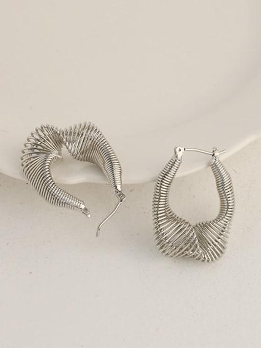 ACCA Brass Hollow Geometric Vintage Huggie Earring 4