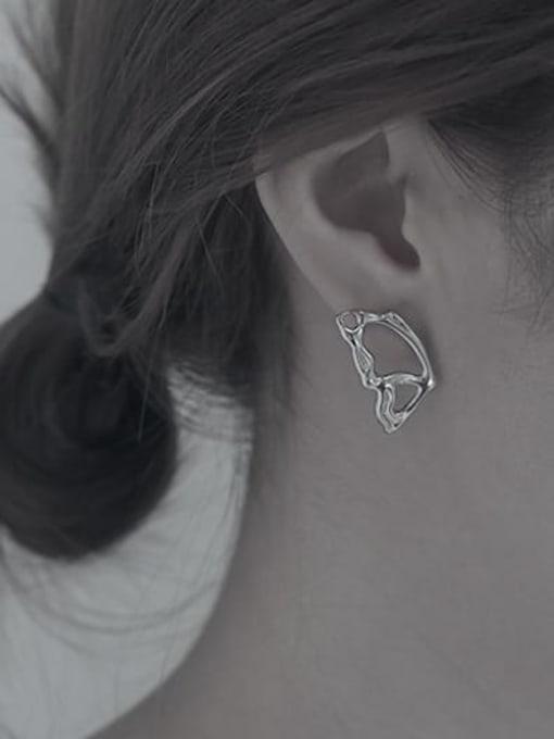 TINGS Brass Asymmetric  Wing Vintage Stud Earring 2