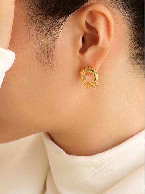 Five Color Brass Geometric Vintage Drop Earring 1