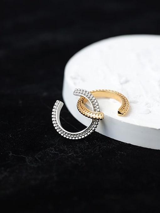 ACCA Brass Geometric Hip Hop Single  Ear clip Earring