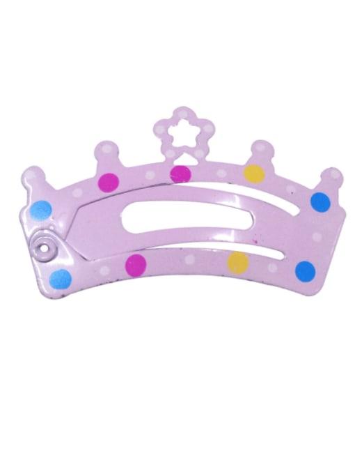 5906 Alloy Multi Color  Enamel Cute Crown Hair Barrette