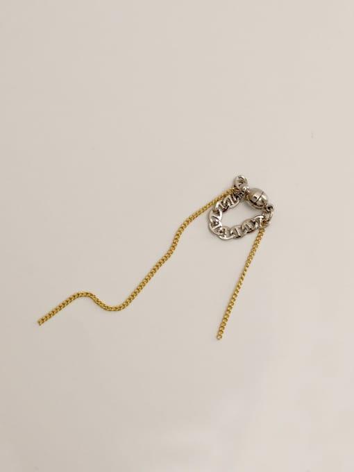 HYACINTH Brass Tassel Vintage Threader Earring 4