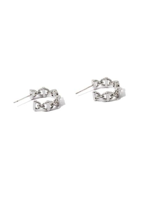 TINGS Brass  Hollow Geometric Vintage Stud Earring