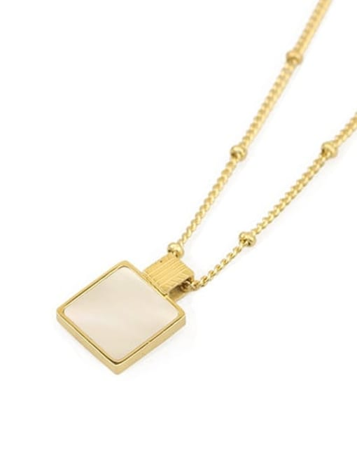 ACCA Brass Shell Geometric Vintage pendant Necklace 4