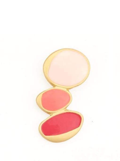 Three round ones Alloy Enamel Geometric Cute Single Earring