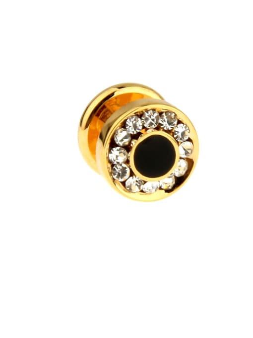 ThreeLink Brass Rhinestone Geometric Vintage Cuff Link 3