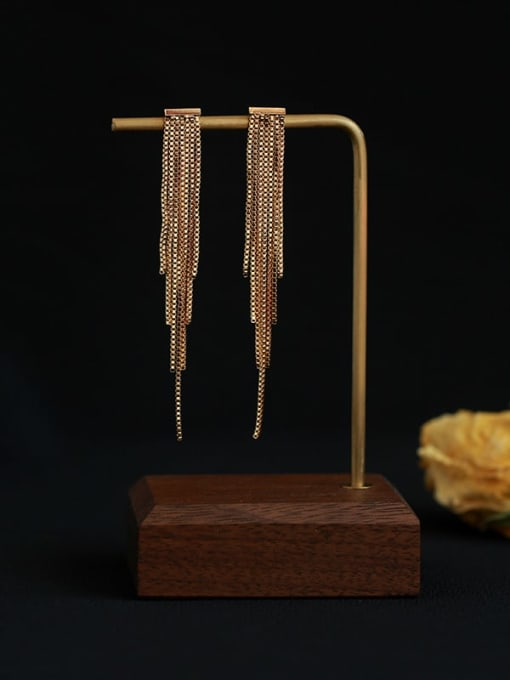 Five Color Brass Tassel Vintage Drop Earring