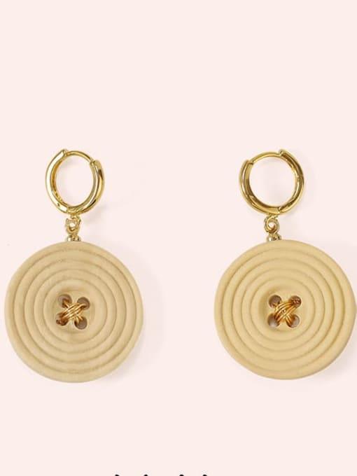 Five Color Alloy Enamel Geometric Cute Huggie Earring 2
